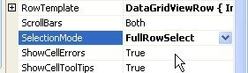 Implementing a transparent row selection in a DataGridView